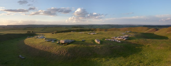 Arbor Low, long shadows