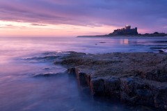 Bamburgh Castle, slow tide