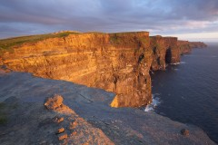 Final glow, Cliffs of Moher