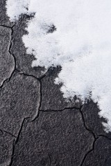 Cracked peat and snow, Fountains Fell