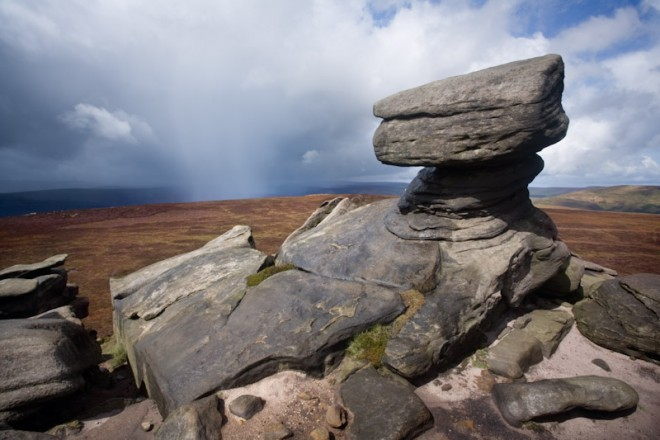 Back Tor, incoming storm, Derwent Edge