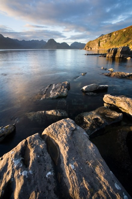 Eroded coast and Cuillin ridge from Elgol