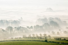 Foolow, misty fields