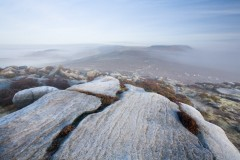 Frost, Higger Tor from Millstone Edge
