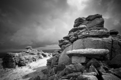 Hound Tor, brief illumination