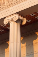 Ionic column, Weston Park Museum, Sheffield