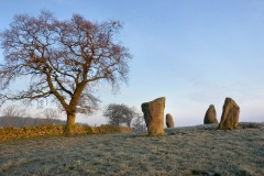 Nine Stones Close stone circle, Harthill Moor