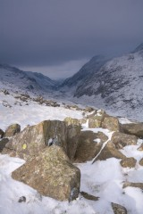Passing snow storm, Pass of Llanberis