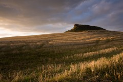 Stubble field, Roseberry Topping