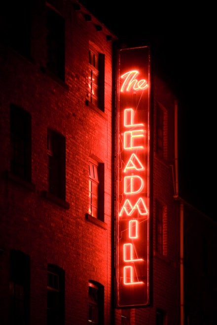 The Leadmill, neon glow