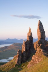 The Old Man of Storr, soft pink light