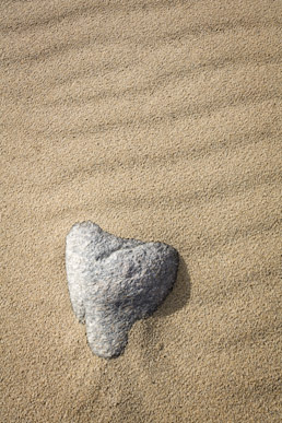 Granite heart, Mangersta beach