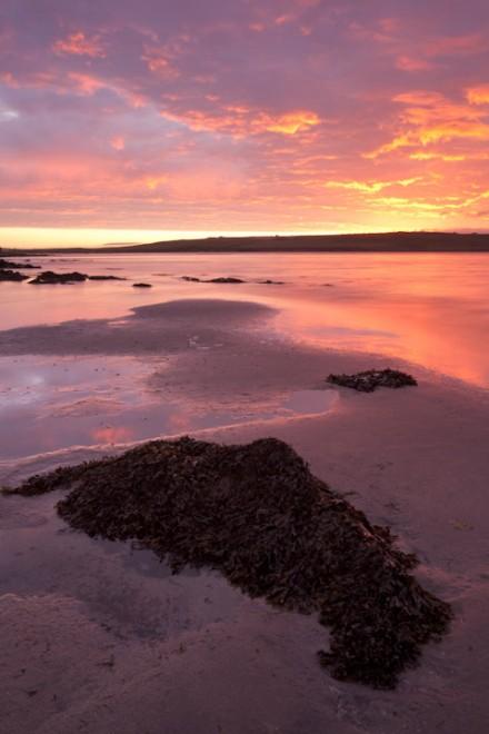Sunrise over Graemsay, Bay of Creekland
