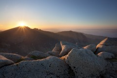 Setting sun, Caisteal Abhail