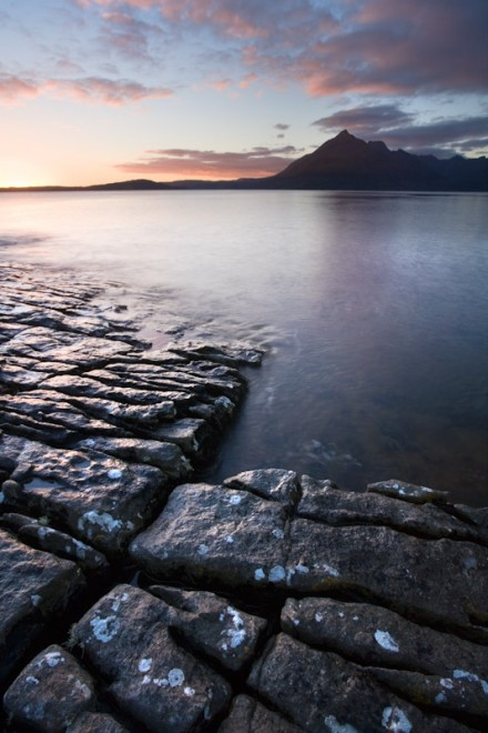 Cuillin ridge from the shore at Elgol