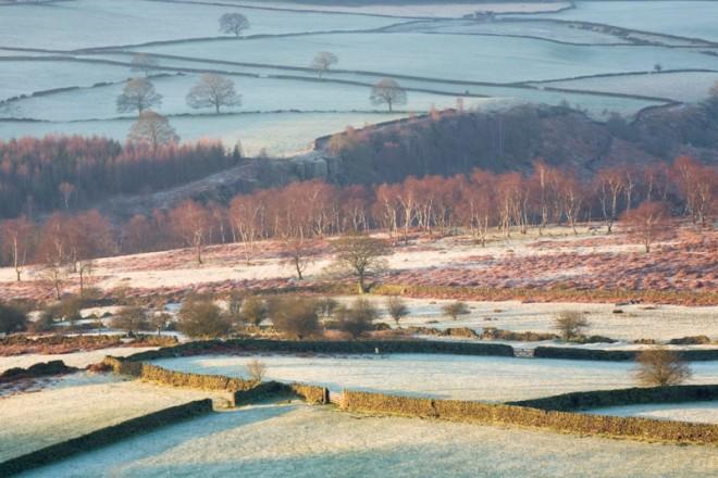 Fields next to Moorside Farm, below Birchen Edge
