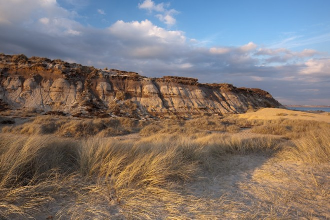 Hengistbury Head, exposed strata