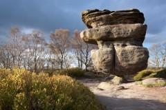 Idol Rock and showery skies, Brimham Moor