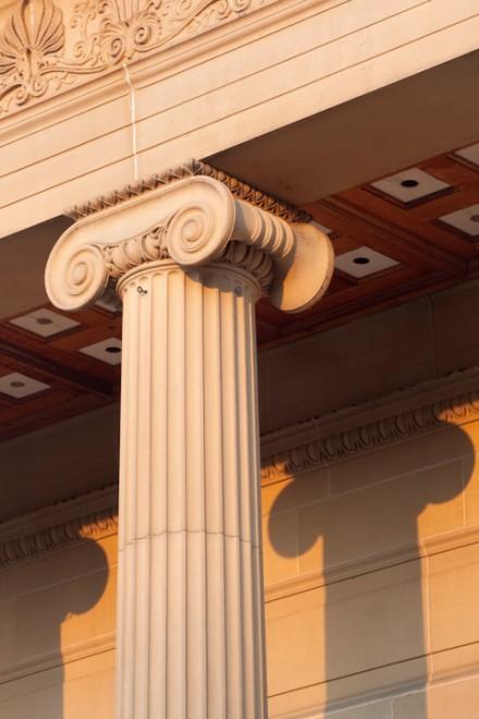 Ionic column, Weston Park Museum, Sheffield