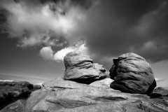 Kissing Stones, rushing clouds, Bleaklow