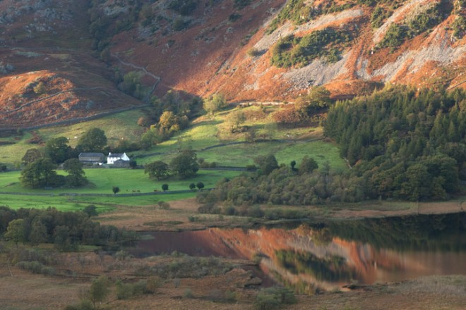 Little Langdale Tarn and Busk House