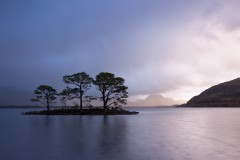 Loch Maree and Slioch, passing squall