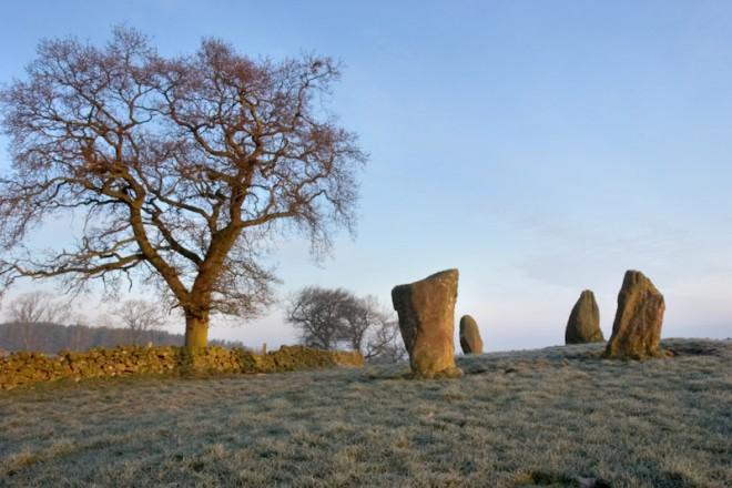 Nine Stones Close stone circle, Harthill Moor