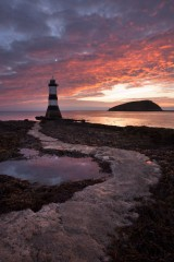 Vibrant dawn, Penmon lighthouse