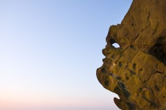 The Winking Man at dawn, Ramshaw Rocks