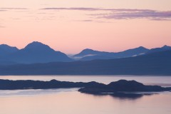 Torridon from Skye in the summer twilight