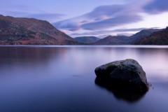 Ullswater, reflected dusk